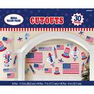裝飾紙卡30入-美國國慶