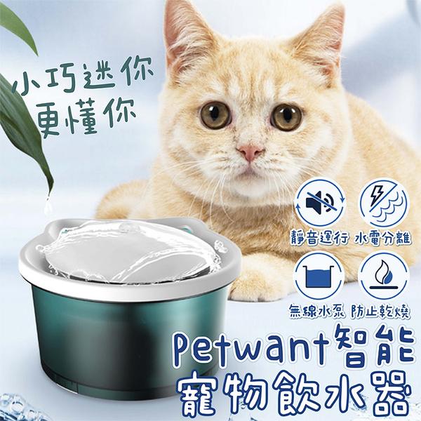新品現貨 Petwant 迷你智能寵物飲水器 寶石綠色 小巧靜音 防乾燒 便又簡單