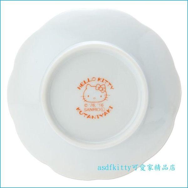 asdfkitty☆KITTY九谷燒藤蔓版陶瓷醬料碟/小碟子/點心皿/茶包盤-也可當筷架-裝醬料.胡椒鹽-日本製