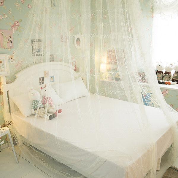 日式掛帳蚊帳 雙人床5尺*6.2尺適用 彈性鋼材製  防蚊力佳  夏日必備  (此商品不含掛鉤)