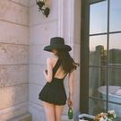 特惠連身泳裝 韓國網紅泳衣女仙女范性感連體露背小胸聚攏遮肚顯瘦溫泉度假泳裝