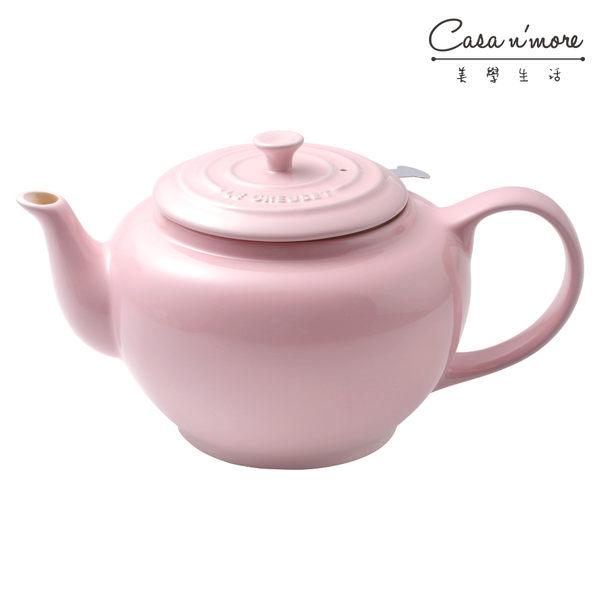 Le Creuset 陶瓷水壺+濾茶器 1.3L 雪紡粉【Casa More美學生活】