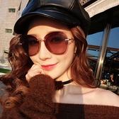 偏光太陽鏡女新款眼鏡顯瘦街拍款墨鏡防輻射 花樣年華