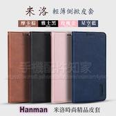 【米洛皮套】Apple iPhone 6/6S 4.7吋 Hanman 輕薄吸合式保護套/側掀斜立支架-ZW