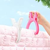 ♚MY COLOR♚  大號強力防風晾曬夾(4入) 糖果色 塑料 曬被子 衣服夾 大夾子【S49-1】