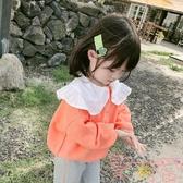 童裝女童毛衣寶寶針織衫兒童娃娃領上衣韓版【聚可愛】