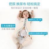 嬰兒睡袋秋冬季防踢被子四季通用純棉分腿可拆卸寶寶加厚連體睡衣igo   易家樂