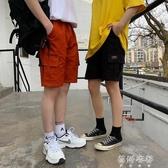 中褲2019夏季男士中褲短褲五分褲休閒褲子潮流寬鬆多口袋潮牌工裝短褲 蓓娜衣都