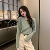 長袖T恤女秋季2019新款韓版寬鬆打底衫洋氣白色內搭春秋上衣ins潮 米娜小鋪