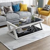 茶几 特價現代簡易黑色鋼化玻璃茶几桌子電視櫃組合簡約客廳歐式小戶型【幸福小屋】