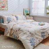 《竹漾》天絲絨雙人加大四件式舖棉兩用被床包組-歐風情