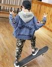 衣童趣(•‿•)韓版男童 帥氣牛仔外套 街頭風字母 百搭牛仔外套