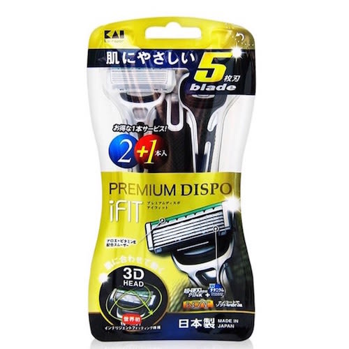 KAI 貝印 5刀刃彈性刀頭刮鬍刀3入 IF-3BH 【QEM-girl】