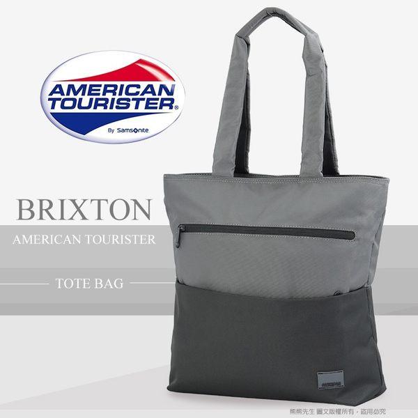 《熊熊先生》Samsonite新秀麗American Tourister 直立式14吋電腦托特包 肩背包 側背包