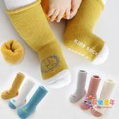 嬰兒襪子秋冬季棉質加厚防滑0-6個月3歲長筒新生兒男女寶寶地板襪