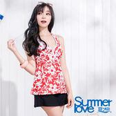 【SUMMERLOVE夏之戀】 豔麗佳人長版三件式泳衣-S15732