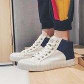 新款帆布鞋男高筒冬季潮鞋軟底透氣板鞋休閒鞋 萬客居