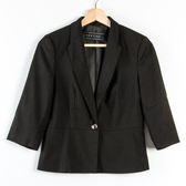 【MASTINA】單釦五分袖收腰西裝外套-黑 秋冬嚴選
