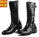 馬丁靴-明星同款經典必買有型真皮男長筒靴2色5s9【巴黎精品】