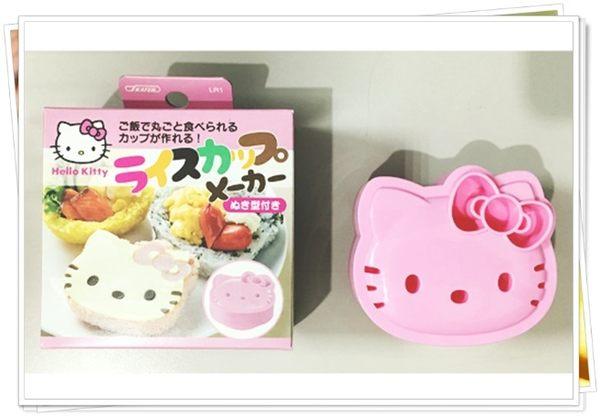 日本製 KITTY 臉型 壓模 押花型板 麵包押模 飯糰 374227 奶爸商城