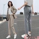 西裝褲西裝褲女直筒寬鬆垂感春裝2021年新款女九分蘿卜哈倫褲小腳休閒褲 芊墨左岸
