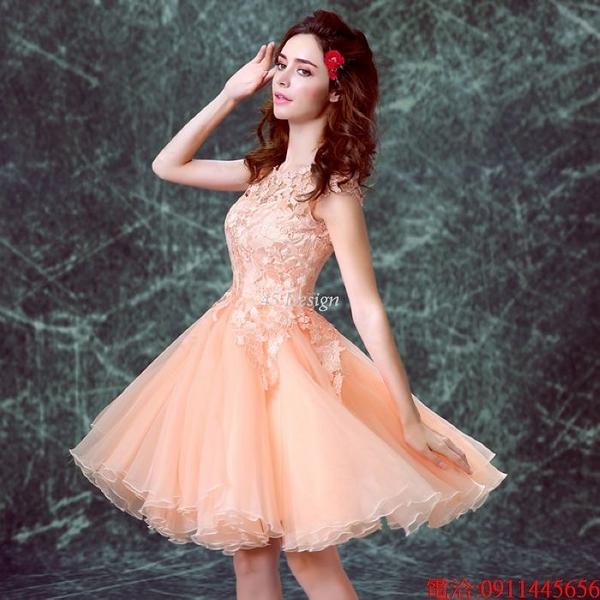 (45 Design)  7天到貨 禮服婚紗晚禮服短款晚宴年會 結婚小禮服短裙 大小顏色款式都能訂製10