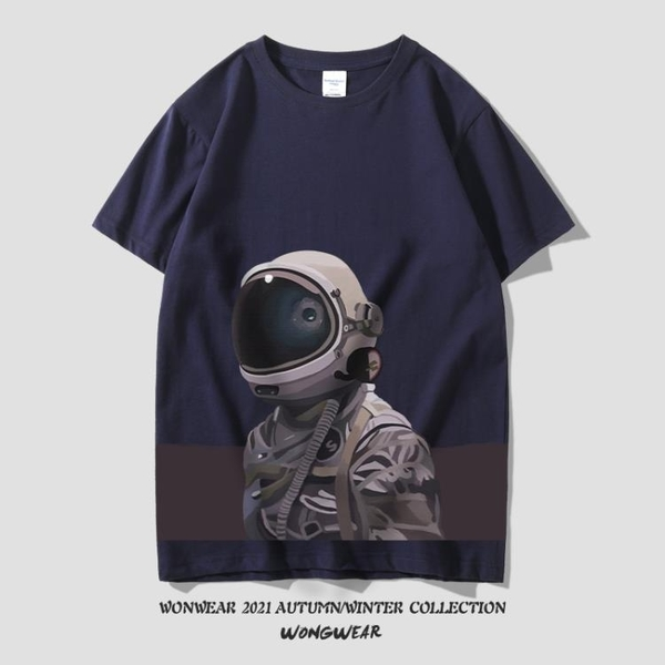 NASA太空宇航員官網旗艦店聯名t恤男潮流歐美風短袖寬鬆純棉上衣 黛尼時尚精品