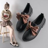 英倫小皮鞋女冬季女鞋新款鞋子女潮鞋秋冬百搭加絨黑色豆豆鞋 韓國時尚週