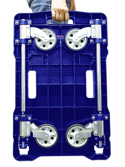 【精捷順】塑鋼折疊手推車p01i-0003 (100kg)