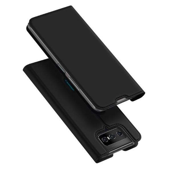 Dux Ducis 掀蓋殼 華碩 ASUS Zenfone 7 ZS670KS手機殼 翻蓋皮套 磁吸商務保護殼 支架插卡