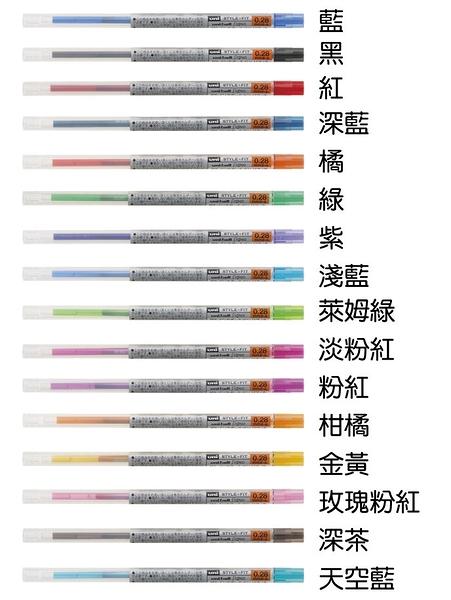 【金玉堂文具】UMR-109 0.28變芯中性筆芯 三菱 uni STYLE-FIT