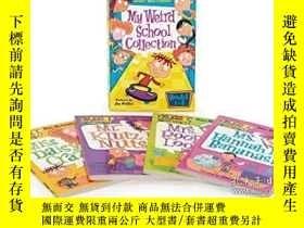 二手書博民逛書店瘋狂學校一季1-4冊盒裝罕見英文原版 My Weird Scho