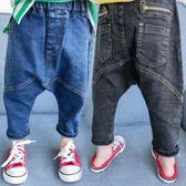 女童寶寶牛仔褲子寬鬆1兒童哈倫褲大PP褲2-3歲4  伊衫風尚