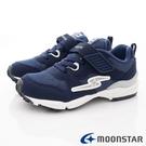 日本Moonstar機能童鞋 四大機能運動鞋款 9715深藍(中大童段)