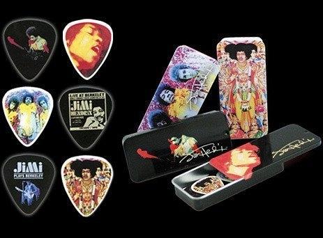 ☆ 唐尼樂器︵☆ DUNLOP 經典 Jimi Hendrix 頂級電吉他/電貝斯/ Bass Pick/ 彈片收藏盒(膜拜中!!)