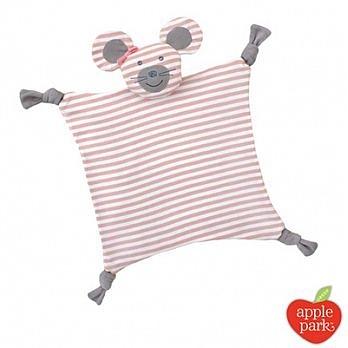 【佳兒園婦幼館】美國 Apple Park【農場好朋友系列】有機棉安撫巾-芭蕾鼠娘
