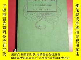 二手書博民逛書店LEAF罕見ANALYSIS b H LUNDEGARDH TR