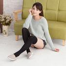 日系高質感膝上襪 (黑色)
