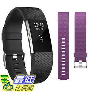 [106美國直購] 錶帶 Fitbit Charge 2 Activity Tracker Bundle - Small