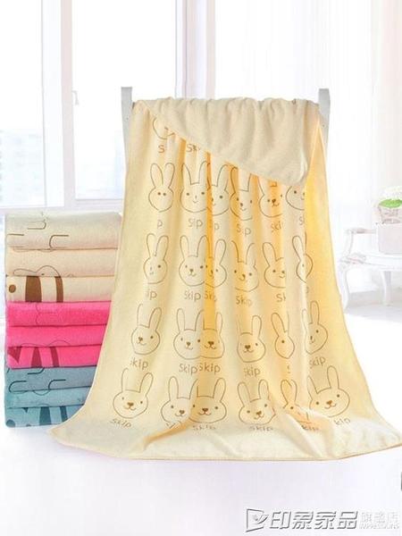 浴巾女家用吸水速干不掉毛兒童卡通游泳浴巾比純棉可愛洗澡大毛巾 印象家品