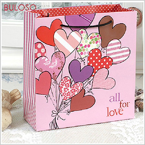 《不囉唆》大號_手提一束愛心禮物袋 禮品包裝/包材/袋子/包裝(不挑色/款)【DYP11025】