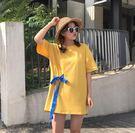 T恤 韓版 短袖 寬鬆 綁帶 字母印花bf風 小清新 (KS0086)★MagicMan★預購