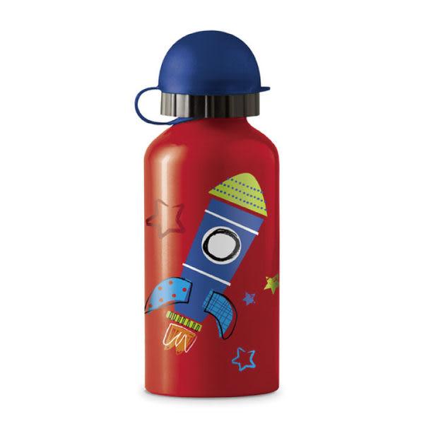 美國Crocodile Creek 環保兒童不鏽鋼水瓶/水壺-火箭