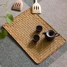 西餐墊 草墊餐墊 日式加厚隔熱墊長方形隔熱桌墊編織復古 餐具墊子西餐墊-限時88折起