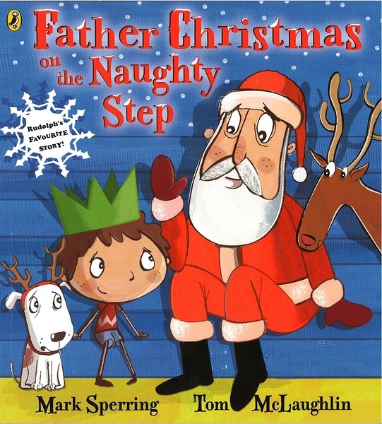 【麥克書店】FATHER CHRISTMAS ON THE NAUGHTY STEP /英文繪本 《主題: 聖誕節》