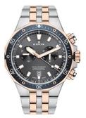 EDOX 依度 Delfin 專業200米防水E10109.357RBUM.NIR計時碼錶灰黑錶43mm