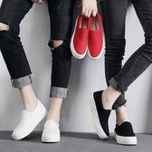 樂福鞋環球春季帆布鞋女樂福鞋厚底學院低幫懶人一腳蹬白色休閒學生板鞋 新年禮物