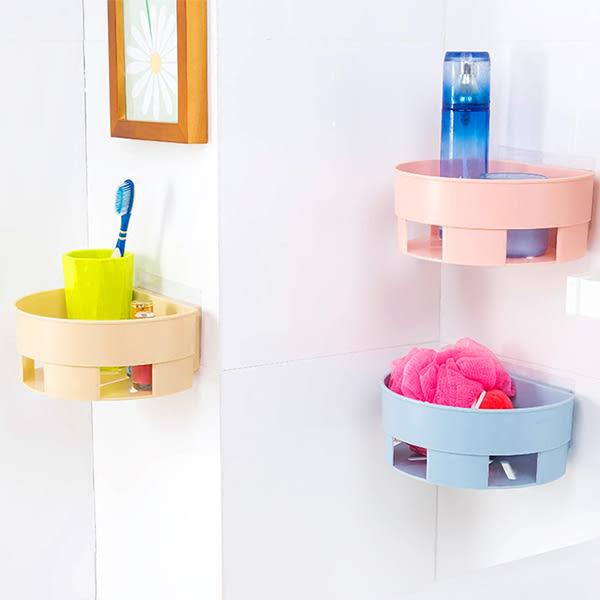 浴室用品 衛浴黏貼式半圓置物架     【ZRV055】-收納女王