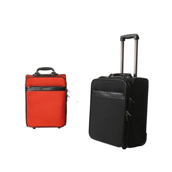 Backbager 背包族【YESON】(台灣製造) 16吋拉桿旅行箱/ 行李箱/ 登機箱(紅色/黑色)