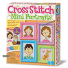 《4M美勞創作》十字繡畫像 Cross Stitch Mini Portraits ╭★ JOYBUS玩具百貨